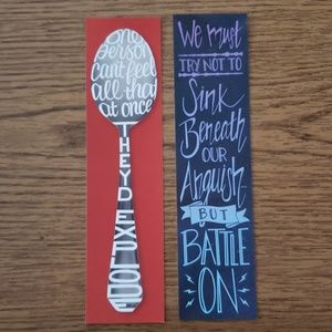 Set of 2 Harry Potter Double-Sided Bookmarks